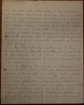 Letter from Gordon McLeish to John S Lumsden  2